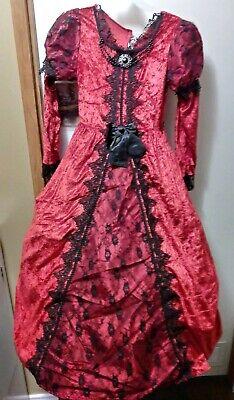 Victorian Vampiress Halloween Costume (Victorian Vampiress Halloween Costume Girls Size Medium (5-6) Black)