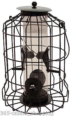 LARGE SQUIRREL-PROOF SEED FEEDER BIRD GARDEN SAFE FEEDING SEEDS PROTECTION BIRDS