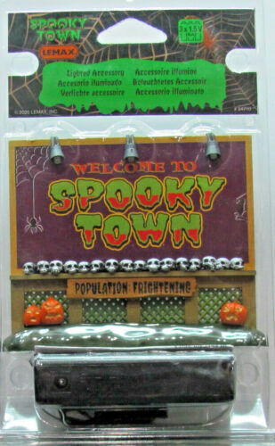 Lemax Spooky Town Lighted Accessory - Spooky Town Sign