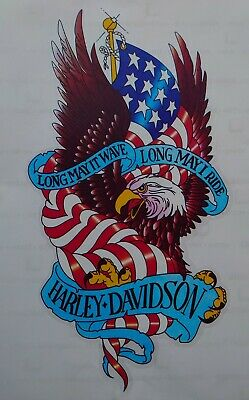 GREAT LOOKING HARLEY +DAVIDSON LONG MAY IT WAVE  LONG MAY I  RIDE STICKER DECAL