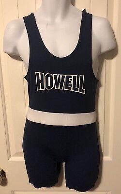 Brute Wrestling Singlet Adult Small High Cut Navy Blue Nylon AS Howell Rebel