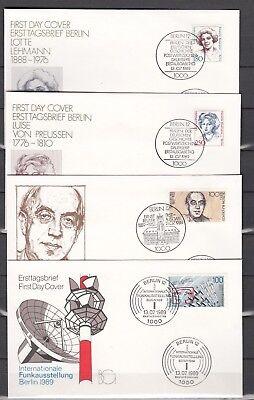 BERLIN, 1989 4 FDC 844-47, (25909)