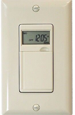 7 Day Digital Programmable Timer Switch For Fan  Motors  Appliances And Security