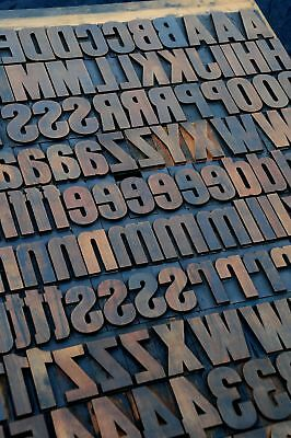 Letterpress Wood Printing Blocks 202pcs 2.13 Tall Wooden Type Woodtype Alphabet