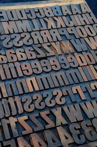 "letterpress wood printing blocks 202pcs 2.13"" tall wooden type woodtype alphabet"
