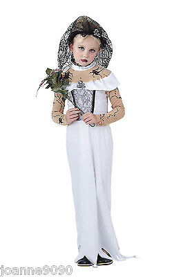 Girls Halloween Zombie Vampire Ghost Corpse Bride Fancy Dress Costume Outfit New - Corpse Bride Costume For Girls