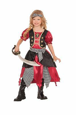 Buccaneer Pirate Princess Costume Dress Girls Child Halloween Captain Hook sm-lg