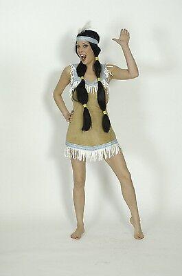 4 40 42 44 Indianerkostüm Indianerin Wilder Westen (Squaw Kostüm)