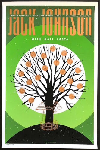 MINT & SIGNED Jack Johnson 2005 Todd Slater Philadelphia Poster 37/150