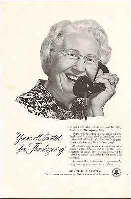 1954-Vintage ad for Bell Telephone System`Grandmother`Retro phone (060715)