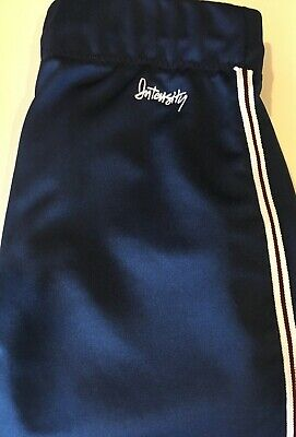 Intensity Low-Rise Double Knit Softball Pant, Navy Blue w/ Stripe, Youth XL