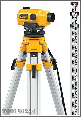 Dewalt Dw096pk 26x Automatic Optical Level Kit - Includes Tripod Rod Case