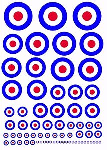 Escala-RAF-Avion-Modelo-Redondeles-Exterior-Vinilo-adhesivos-Varios-Basculas