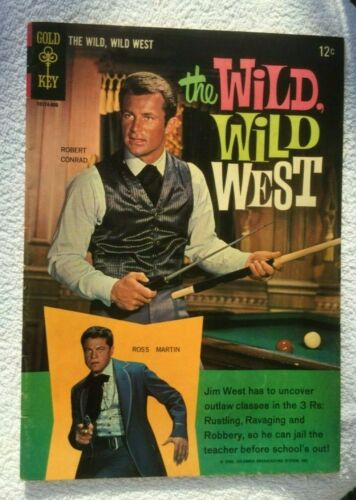 The Wild, Wild West #1 (Variant Photo Back Cover) Gold Key Comic 1966