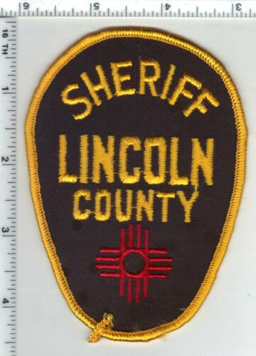 Lincoln County Sheriff (New Mexico) 2nd Issue Shoulder Patch