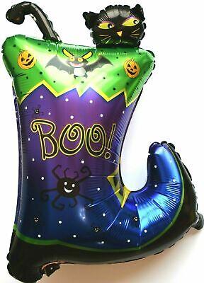 Halloween Deko Helium Folienballon Kürbis Katze Schuhe Fledermaus Spinne
