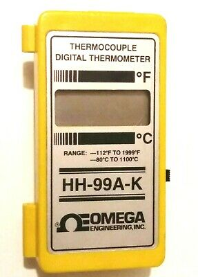 Omega Hh-99a Thermocouple Digital Thermometer - Used Works