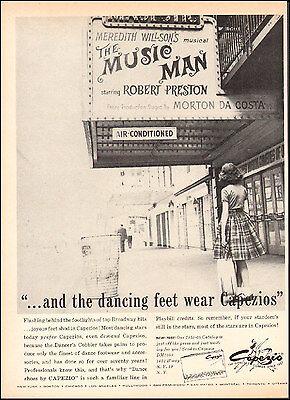 1950s vintage AD CAPEZIO Dance shoes fashions MUSIC MAN ballet    (070415)
