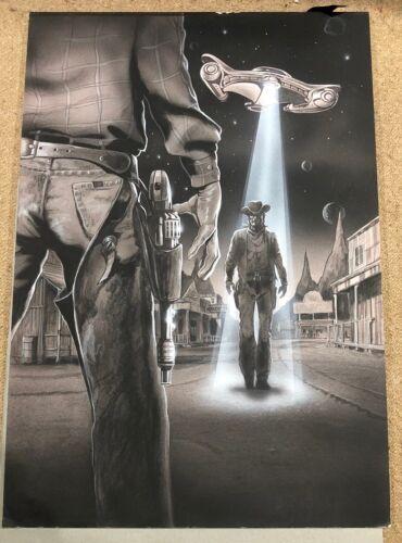 """Original Movie Production Concept Art Illustration """"OBLIVION"""" Cowboys & Aliens"""