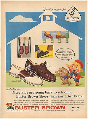 1957 Vintage for Buster Brown Shoes`Art Photo Cartoon (100515)