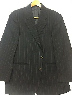 42R Chaps Ralph Lauren 2 Button Wool Blazer Sport Coat Wool Jacket Navy-Pin Exc!