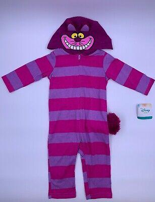 Baby Cheshire Cat (Disney Baby CHESHIRE CAT Alice In Wonderland Purple Pink w/Tail Zip 18-24)