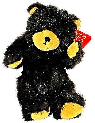 - 1996 Lovable Fiesta Black Bear Plush 3+ With Tag 9