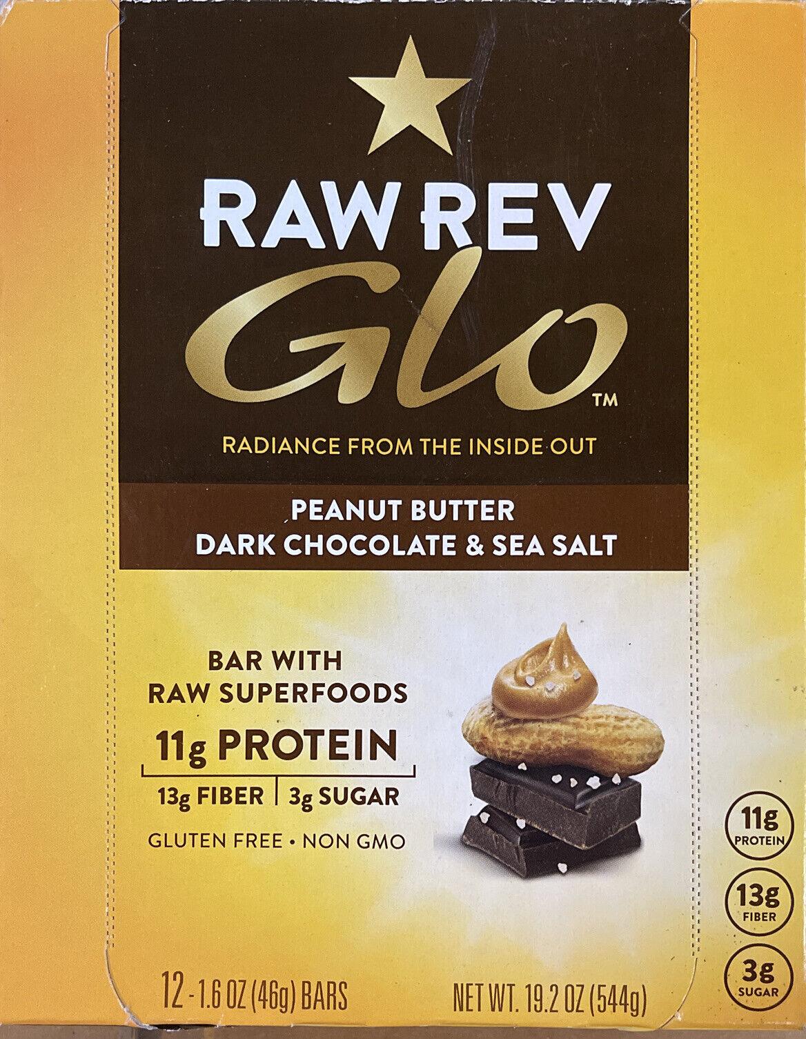 Raw Rev Glo Vegan Gluten-Free Protein Bars - Peanut 12 Count (Pack of 1) 1/26/21