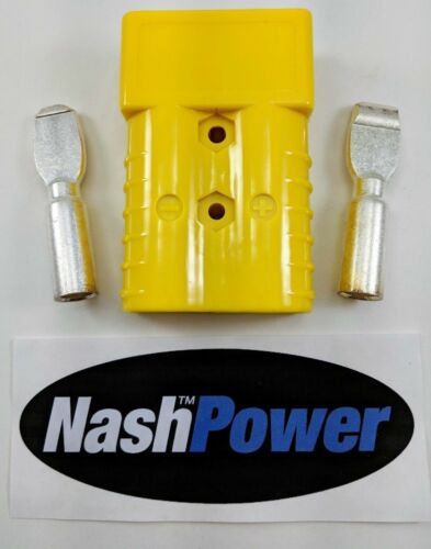 350 Amp Yellow 2/0 AWG Battery Connector Replaces Anderson 350 Amp