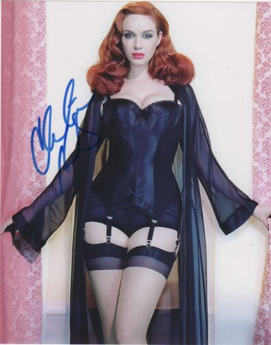 Christina Hendricks Sexy Autographed Signed 8x10 Photo COA D73