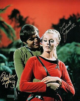OFFICIAL WEBSITE Walter Koenig & Celeste Yarnell Star Trek 8x10 DOUBLE AUTOGRAPH