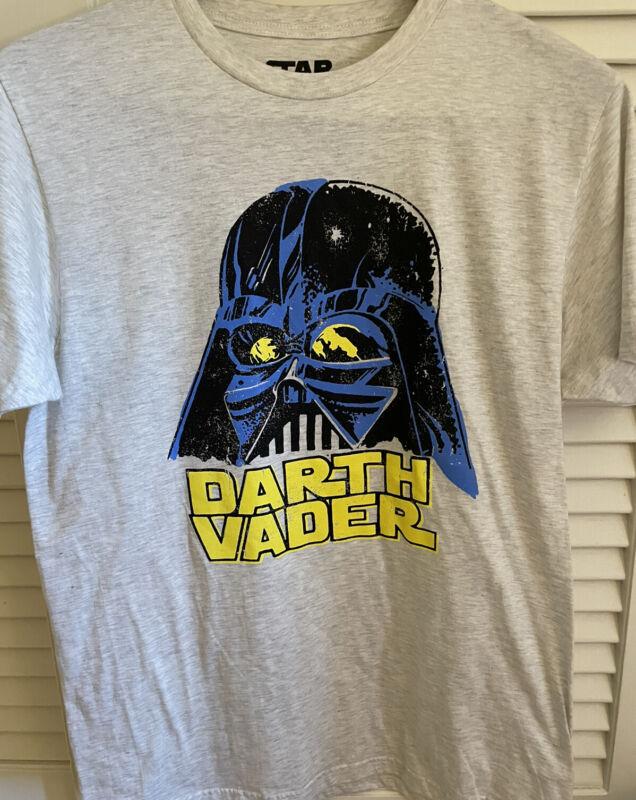 Mens Star Wars Lucas film DARTH VADER Gray Heather T-shirt size Large