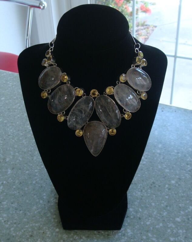 "Large black velvet necklace pedestal jewelry display stand 10""x7""x6"" jd006"