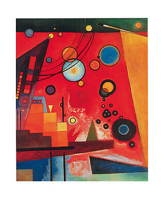 Kandinsky Kunst Poster (SCHWERES ROT - Wassily Kandinsky  40x50 Kunstdruck Poster Plakat Bild)