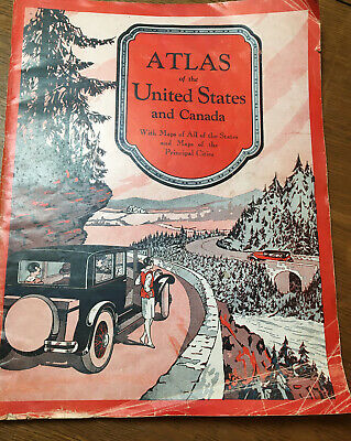 1931 Gallup's Highway Atlas of U S & S. Canada Road Maps & Motor Travel Guide
