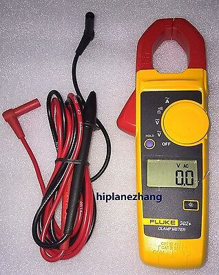 Fluke 302 F302 Digital Clamp Meter Va Ohm Continuity Data Hold Measure Tester