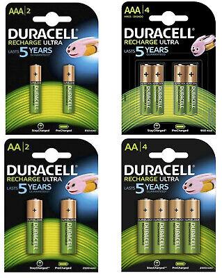 Power Akkus Duracell Recharge Ultra Accus AAA Micro 900mAh AA Mignon 2500mAh NEU