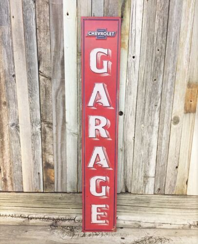 "Chevrolet Chevy Garage 30"" Large Embossed Metal Tin Sign Garage Vintage New"