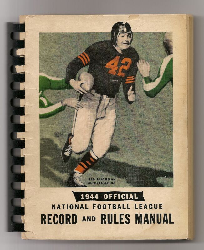 1944 NFL Record and Rules Manual Rare!!