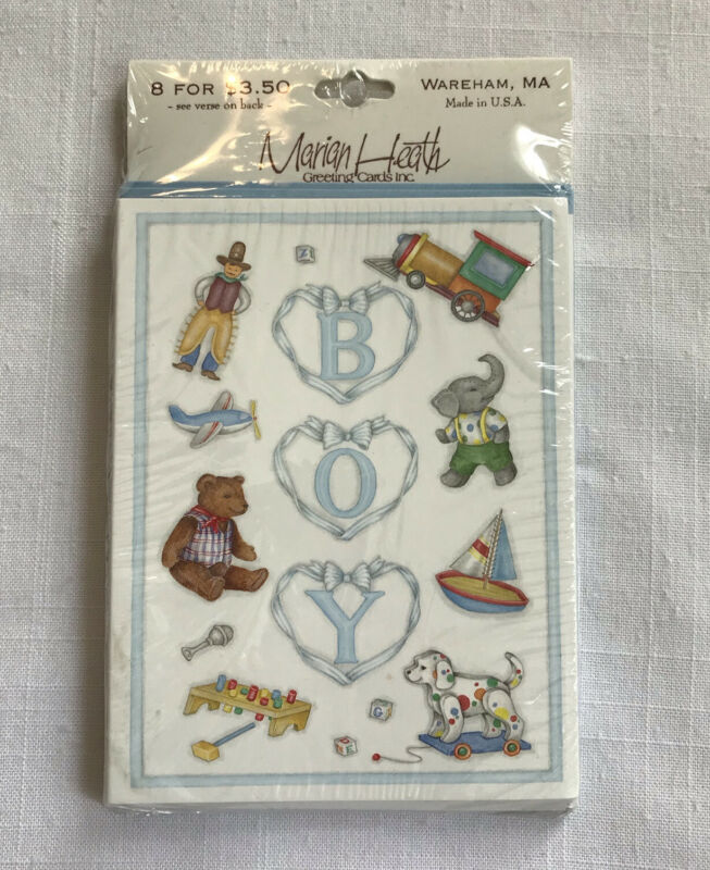 Marian Heath Cards Birth Announcement Its A Boy 8 Pack Vintage Sealed