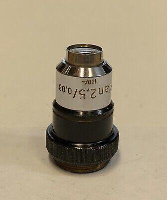 Zeiss Plan 2.5x 0.08 Microscope Objective Lens 160mm