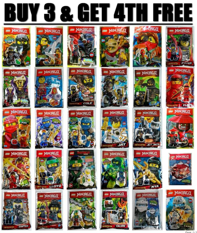 Jay 891615 Foil Pack Polybag ORIGINAL LEGO NINJAGO Minifigure LIMITED EDITION