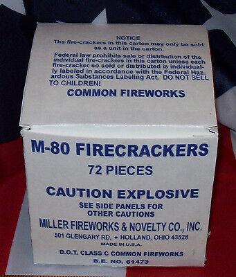MILLER FIREWORKS & NOVELTY CO., INC. M-80 HISTORICAL FIRECRACKER BOX REPLICA