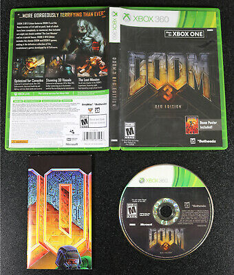 Xbox 360 Doom 3 BFG Edition Disc Case + Poster Multiplayer  for sale  Shipping to India