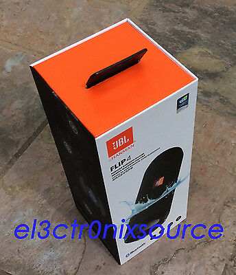 NEW JBL Flip 4 Waterproof Portable Bluetooth Wireless Speaker - BLACK, used for sale  Shipping to South Africa
