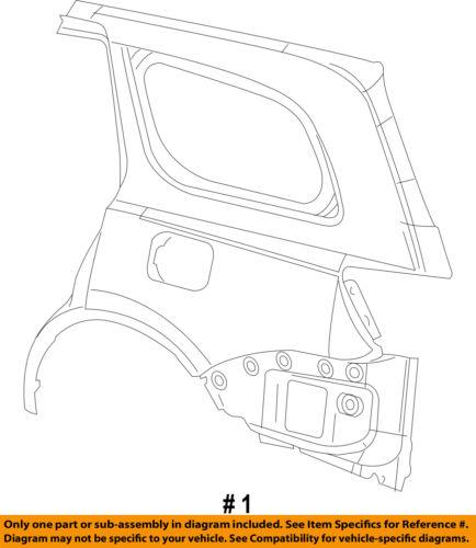 Jeep CHRYSLER OEM Grand Cherokee-Quarter Panel Rear Fender Right 68078792AB