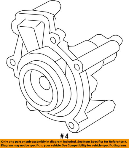 Audi Oem 13 18 S6 4 0l V8 Engine Water Pump 079121014m