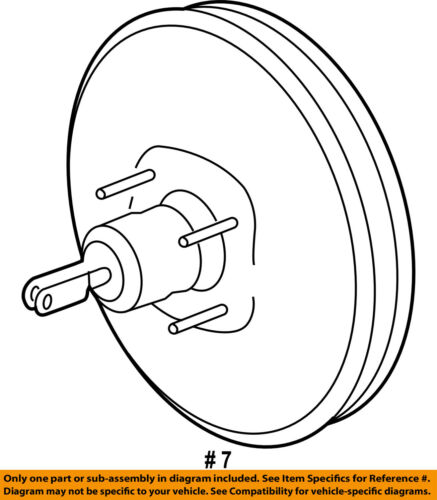Ford Oem Power Brake Vacuum Booster At4z2005a