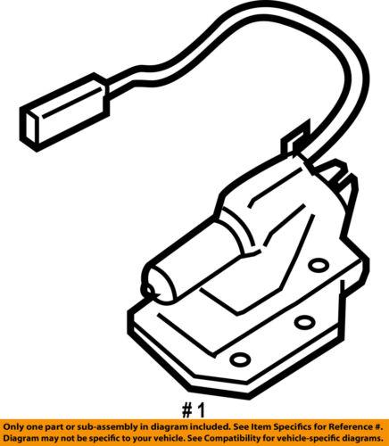 Ford Oem Liftgate Lock Actuator Motor Ej5z7843150b