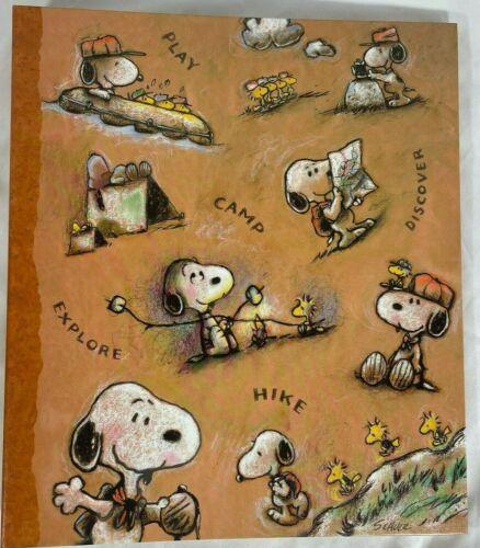 Hallmark Peanuts Snoopy 3 Ring Refillable Photo Album Scrapbook Camping